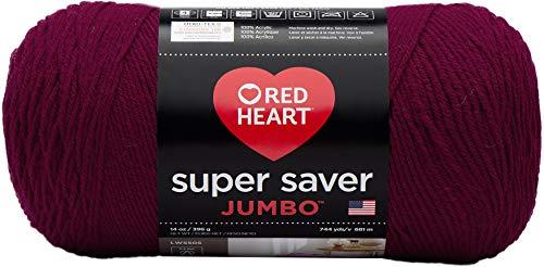 RED HEART RED HEART Super Saver Jumbo Yarn, Burgundy - E302C.0376