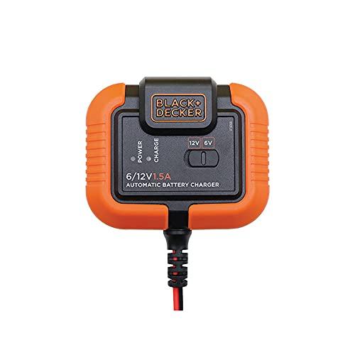BLACK+DECKER BXAE00021 Caricabatterie e manutentore per Moto/Auto. Manutenzione 6-12V. 12 Ah Fino a 1,4 Amp