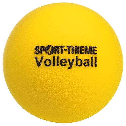 Sport-Thieme Soft Volleyball | Zeitlupeneffekt | Sehr gut springend | Für alle Ballsportarten geeignet | Offenporiger Schaumstoff | Farbe: Gelb | Gewicht: 280 g | Durchmesser: 210 mm
