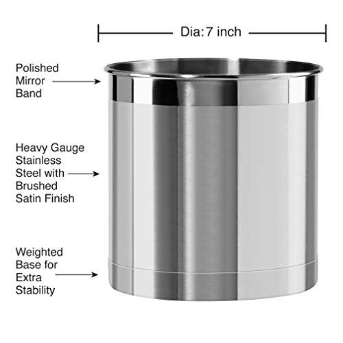 Oggi Jumbo Stainless Steel Utensil Holder