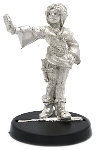Stonehaven Human Mage Female Miniature Figure (for 28mm Scale Table Top War Games) - Made in US
