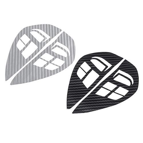 JenNiFer Autocollant De Contrôle De Volant De Voiture De Modèle De Fibre De Carbone Garniture De Décalque pour Mitsubishi ASX Lancer - Noir