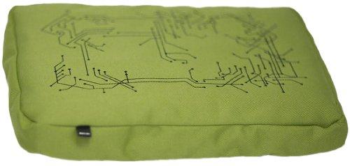 Bosign Surfpillow Hitech für Laptop, Kissen mit Bezug aus Polyester und Einsätze aus Silikon, Grün