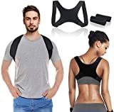 LIUMY Posture Corrector, Back Straightener for Men and Women, Adjustable Breathable Posture Trainer