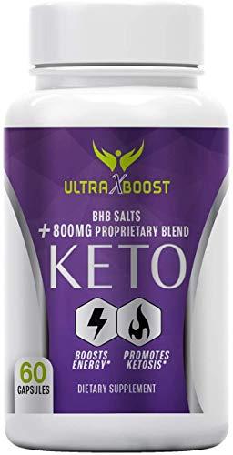 Ultra X Boost Keto Pills - Ultra X Boost Keto Diet Pills - BHB Salts 800mg Proprietary Blend (60 Capsules, 1 Month Supply)
