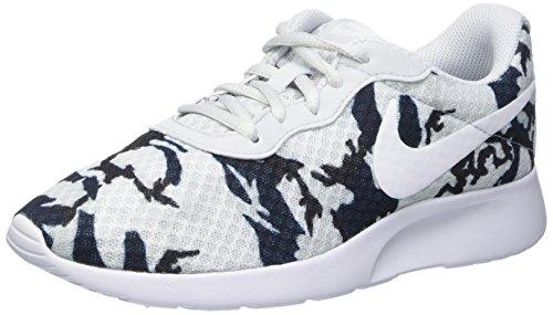 Nike Donna Wmns Tanjun Print Scarpe Sportive Argento Size: 35