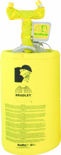 Best Prices! Bradley S19-690H 10 Gallon Safety Heated Portable Pressurized Eye/Face Wash Unit with D...