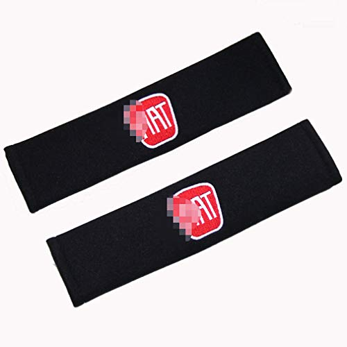 Aishengjia 2pcs Seat Belt Pad Cotton with Car Shoulder Seat Belt Cover Safety for Fiat Panda Bravo Punto Linea Croma 500 595