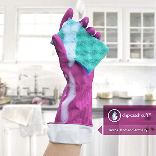 Product Image 3: Playtex Living Reuseable Rubber Cleaning Gloves (Medium, Pack – 3)
