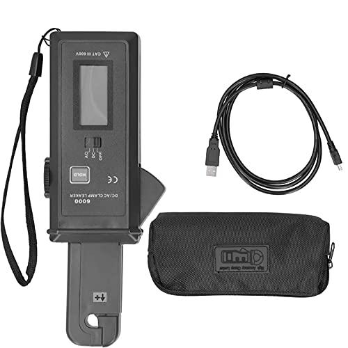 Pinza amperimétrica de CA/CC, pinza amperimétrica Medidor de fugas de miliamperios sin contacto de CT de pinza para medición de corriente