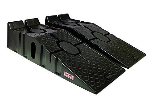 SOGI - RA-10P - Lot de 2 rampes en polypropylène, pour voiture, quad, moto ou petit tracteur de maximum 2,5 tonnes