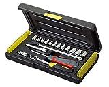 Stanley FatMax Micro Tough - Juego de llave de carraca y puntas de...