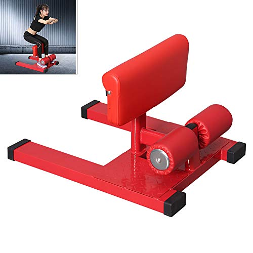 Yajun Sissy Squat Kniebeugen Trainer Beinmuskeltrainer Verstellbar Home Hip Teaching Beinhaken Maschine Rücken Bauch Hüften Für Männer Frauen,Red