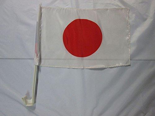AZ FLAG AUTOFAHNE Japan 45x30cm - JAPANISCHE AUTOFLAGGE 30 x 45 cm Auto flaggen