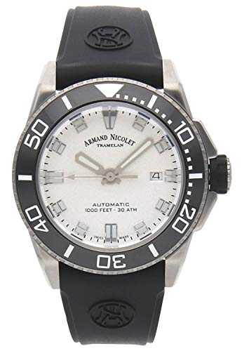 Reloj armand nicolet js9 a480agn-ag-gg4710n automático orologio Uomo Analogico Automatico con cinturino in Gomma A480AGN-AG-GG4710N