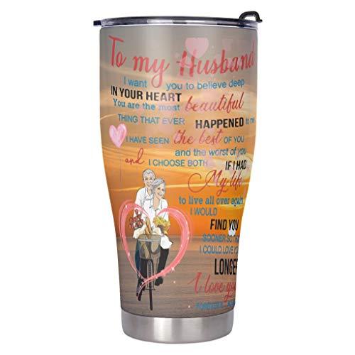 DAMKELLY Store, tazza in acciaio inox di qualità alimentare, robusta, con coperchio scorrevole resistente agli spruzzi d'acqua per esterni, colore bianco, 900 ml