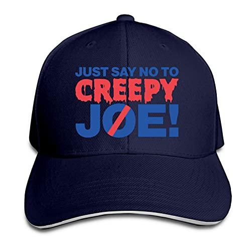 XCNGG Just Say No to Creepy Joe Gorra de Camionero Ajustable para papá Gorra de Camionero Sandwich Outdoor Sun Visor Cap