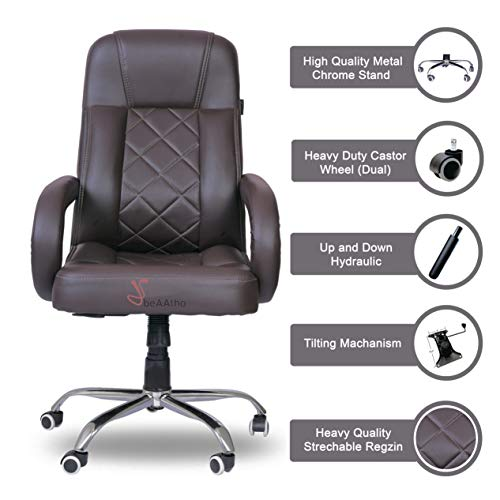 beAAtho JS-2 Executive High Back Office Revolving Chair (Brown)
