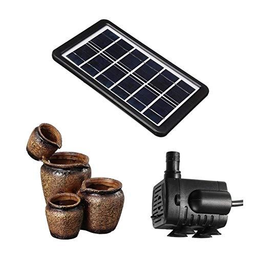 MINGMIN-DZ Dauerhaft USB Solarbetriebene Gartenteichpumpe Kit Garden Pool Teich Wasserspielpumpe Solar Panel Wasserfall Brunnen Garten-Dekoration (Color : Brown)