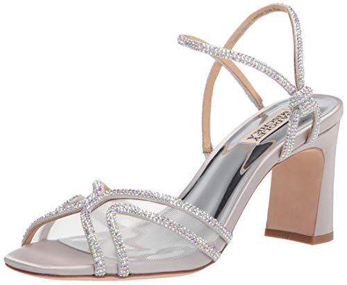 Badgley Mischka womens Hey Heeled Sandal, Silver, 7 US