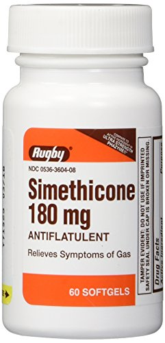 Simethicone 180mg Softgels Anti-Gas Generic for Phazyme Ultra Strength 4 PACK of 60 Softgels, Total 240 ea.