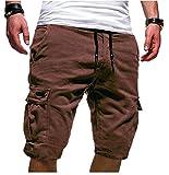 Pantalones Multibolsillos Casuales De Cinco Puntos para Hombres Nuevo Verano