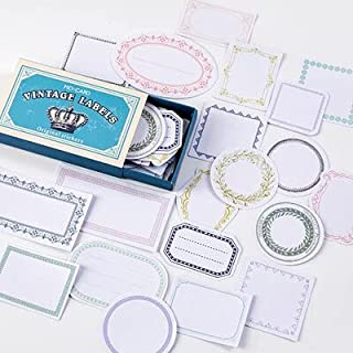 Vimax - Assorted Stickers - 60pcs/box Vintage Plant Travel Matchbox Diary Stickers Retro Stamps Scrapbooking Korean Sticke...