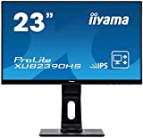 iiyama XUB2390HS-B1 Monitor AH-IPS LED 58.4 cm, 23 pulgadas, Full-HD (VGA, DVI, HDMI, Ultra-Slim-Line, Regulable en altura, Pivotante), Negro Mate