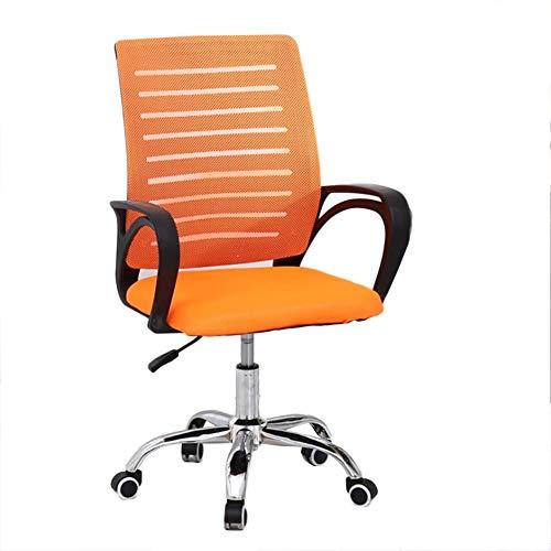 R & R Enterprises Silla de oficina ergonómica de malla para computadora silla de trabajo ajustable con reposabrazos, Naranja, talla única
