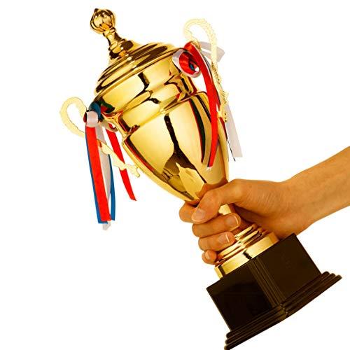 Estatuas Trofeos Trofeo de Metal Creativo Competición Campeón Trofeo Trofeo Taekwondo Fútbol Baloncesto Bádminton Competición Premio (Color : Gold, Size : 27 * 49cm)