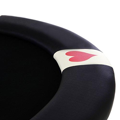 Nexos Casino Pokertisch klappbar L 215 x B 115 x H 79 cm Armlehnen schwarze Pokerauflage Klapptisch für 10 Spieler Deluxe Sonderedition - 2