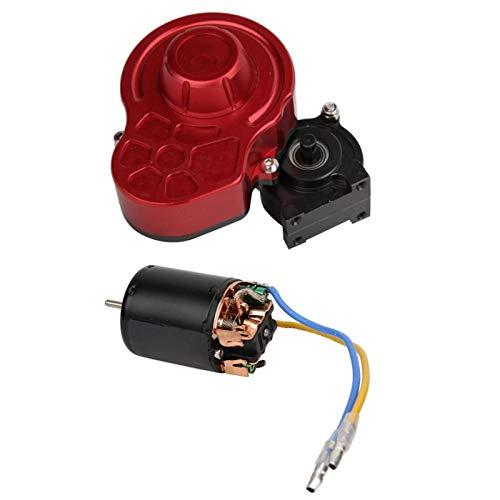 Surebuy Motor de Cepillo RC Caja de Cambios Central RC de Alta Resistencia para 1/10 SCX10 RC Crawler(55T)