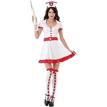 Night Shift Nurse Women s Sexy Halloween Role Play Costume Scrubs White Large