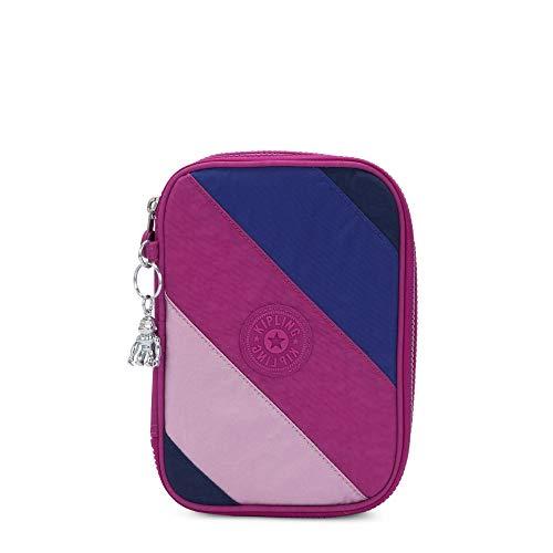 Kipling Damen 100 Pens Case Federmäppchen, Pink Mix Block, Einheitsgröße