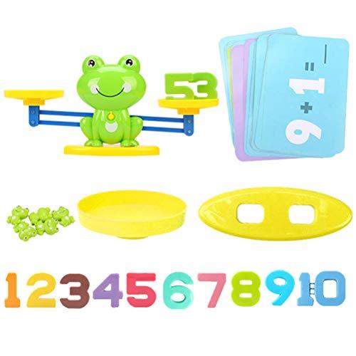 Bogeger Frosch Balance Waage Math Game, Niedliche Form Kinder Aufklärung Digitale Addition Und Subtraktion Math Waage Puzzle Spielzeug Für Digital Lernen, Zählen, Gleichgewicht (grün)