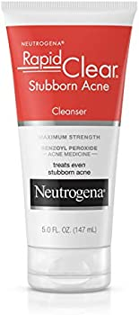2-Count Neutrogena Rapid Clear Stubborn Acne Cleanser, 5 oz