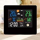 QXFJ Reloj Despertador Digital Reloj ElectróNico LCD Creativo Y De Moda Reloj De ProyeccióN del PronóStico del Tiempo Reloj Despertador Multifuncional para La DecoracióN del Hogar