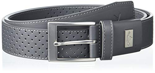 Callaway Performance Perforated Stretch Belt, Iron Gate, Large