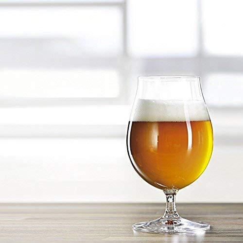 Spiegelau crystal - tulip style glass - Belgian beer glasses - craft brews drinkware, 15.5 oz, set of 4