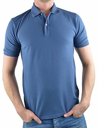 Olymp Poloshirt blaugrau, Einfarbig 96% Baumwolle / 4% XLA, Größe L