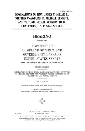 Nominations of Hon. James C. Miller, III, Stephen Crawford, D. Michael Bennett,...