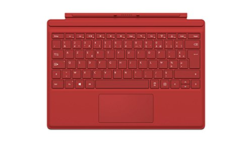Microsoft QC7-00016 Tastatur, für Surface Pro 4 rot