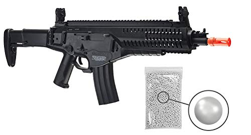 Wearable4U Umarex EF Beretta Arx 160 AEG Competition Electric Air Soft BB Rifle with Included Battery and Charger Pack of 1000ct BBS Bundle (Black)