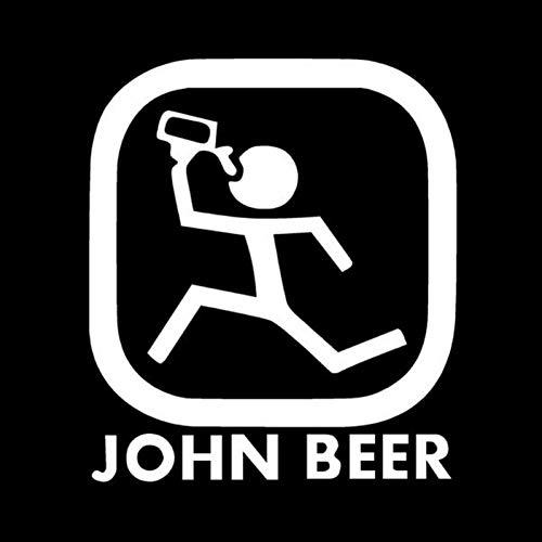 CTMNB Autoaufkleber 12.3CM * 14CM lustiges Bier-Karikatur-Auto, das Art- und Weiseautozubehör anredet