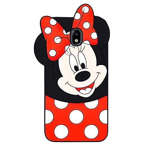 EMF Cute Mouse Case for Samsung Galaxy J7 Refine,3D Cartoon Animal Silicone Protective Kawaii Funny Character Cover,Animated Cool Skin Case for Kids Teens Guys (Samsung Galaxy J7 Refine/J7 2018)