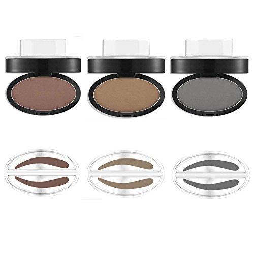 Sceau sourcils Maquillage Tampon Poudre Brow Imperméable Eye Cosmétique Outil Gris Brun