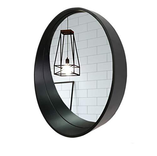 Miroir De Meuble Mural Avec Cadre En Bois Rond Miroir Mural Avec Étagère (taille : Diamètre 50cm)