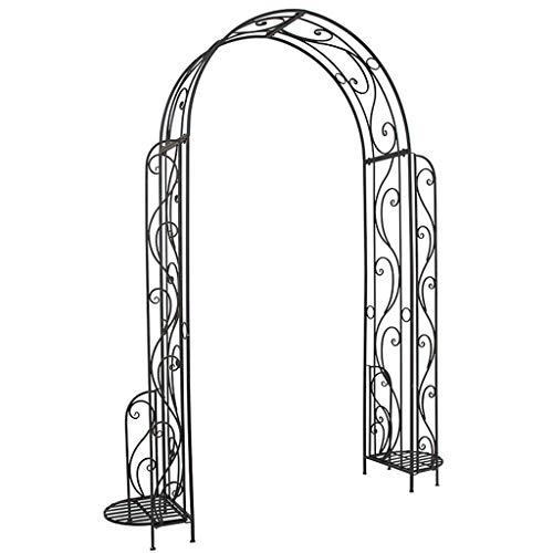 Arco Jardin de Hierro para Plantas Trepadoras, Enrejado de Arco, Glorietas de Jardín al Aire Libre, Arco de Rosas, Altura 2,3 M, Estilo Retro