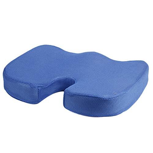 Cojín de espuma viscoelástica para coxis de espalda, coxis y ciática, para alivio del dolor de oficina, coche, silla de ruedas