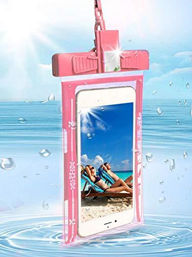 Wasserdichte Handyhülle Tragbares Pfeifentelefon Unterwasser Trockentasche Mit Trageschlaufe, Reiten Bergsteigen Schwimmen 5,2-6,44